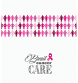 Breast cancer awareness ribbon women figures file vector image vector image