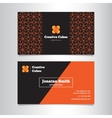 bright geometric business card template vector image vector image