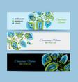 business cards design floral background vector image vector image