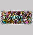cartoon cute doodles artist word vector image