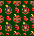 casino and poker seamless pattern with dice and vector image