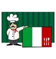 Chef of italian cuisine vector image vector image
