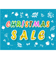 Christmas Sale with floral background vector image vector image