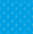 column coral pattern seamless blue vector image