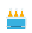 cooler bag with beer bottles vector image