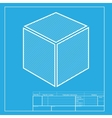 Cube sign White section of icon on vector image vector image