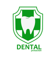 dental health logo vector image