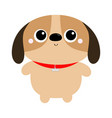 dog toy icon big eyes puppy pooch standing funny vector image