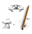 drones - equipment and extensions remote vector image vector image