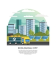 Ecological City Concept vector image vector image