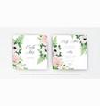 elegant floral wedding invitation save date card vector image vector image