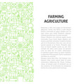 farming agriculture line pattern concept vector image vector image