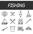 Fishing icon set vector image vector image