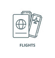 flights line icon linear concept outline vector image vector image