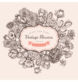 Flower vintage styled sketch background vector image vector image
