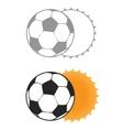 Football sun eclipse vector image vector image