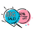 geometric bubble shopping discount and sale vector image vector image