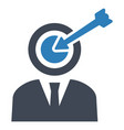 goal target business icon vector image vector image