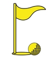 golf ball and flag graphic vector image vector image
