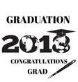 graduation 2018 flat emblem badge template vector image vector image
