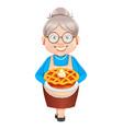 grandma cartoon character happy grandparents day vector image vector image