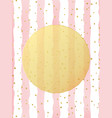 greeting card template gold glitter foil dots vector image