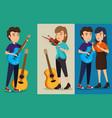 group of persons in concert vector image vector image