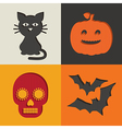 halloween decorations vector image vector image
