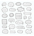 hand drawn set of speech bubbles tetrad cell vector image vector image