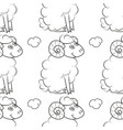 happy sheep flying in the sky vector image vector image