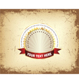 Label with grunge background vector image