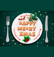 merry christmas and happy new year 2019 christmas vector image vector image