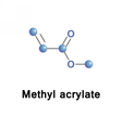 Methyl acrylate ester vector image vector image