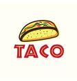 Mexican Taco vector image vector image