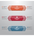 Modern shiny banner with numbers and signs vector image vector image