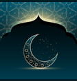 mosque door with creative crescent moon for eid vector image vector image