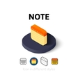 Note icon in different style vector image