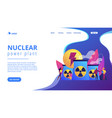 nuclear energy concept landing page vector image