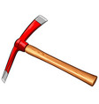 pickaxe on white background vector image vector image