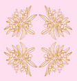 pink and gold french toile floral seamless repeat vector image vector image