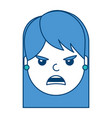pretty woman angry frustrated facial expression vector image