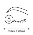 primer for eyelash extension linear icon vector image vector image