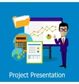 Project Presentation Concept Design Style vector image