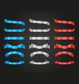ribbon and banner design set vector image vector image