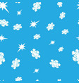 seamless background with snowflakes and stars vector image