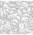 Seamless floral pattern with shadow vector image
