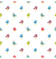 seamless pattern with colorful small birds vector image