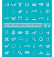 Set of veterinary flat icons vector image