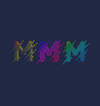 several variants one letter m latin vector image vector image