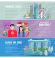 Singapore Culture 3 Horizontal Banners Set vector image vector image